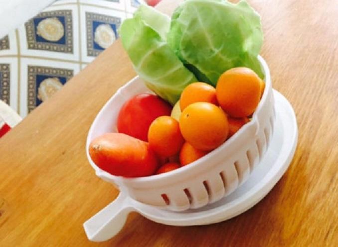 Rổ đựng salad trái cấy 2 in 1