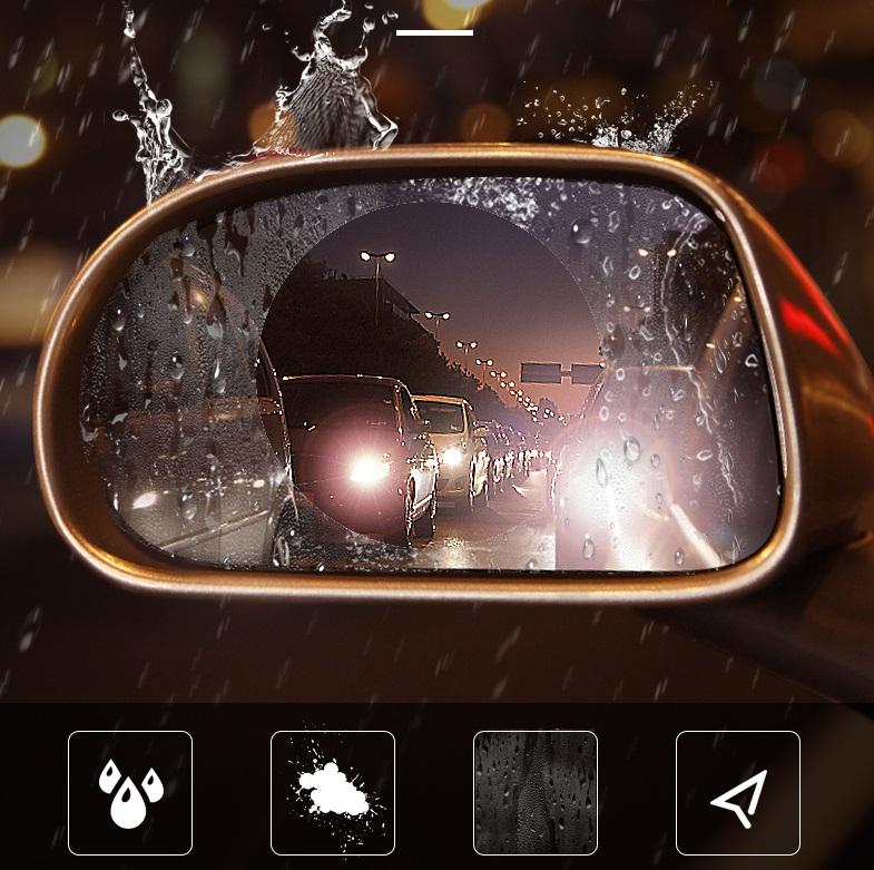Combo 2 miếng dán kính xe chống nước 9.5x9.5cm