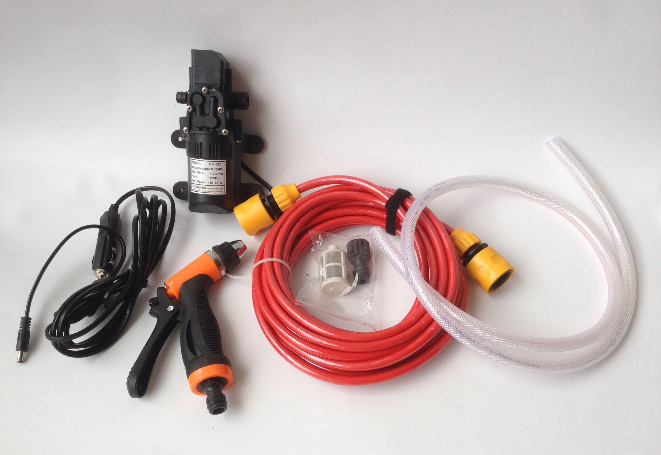 Bộ máy bơm rửa xe tăng áp lực nước mini