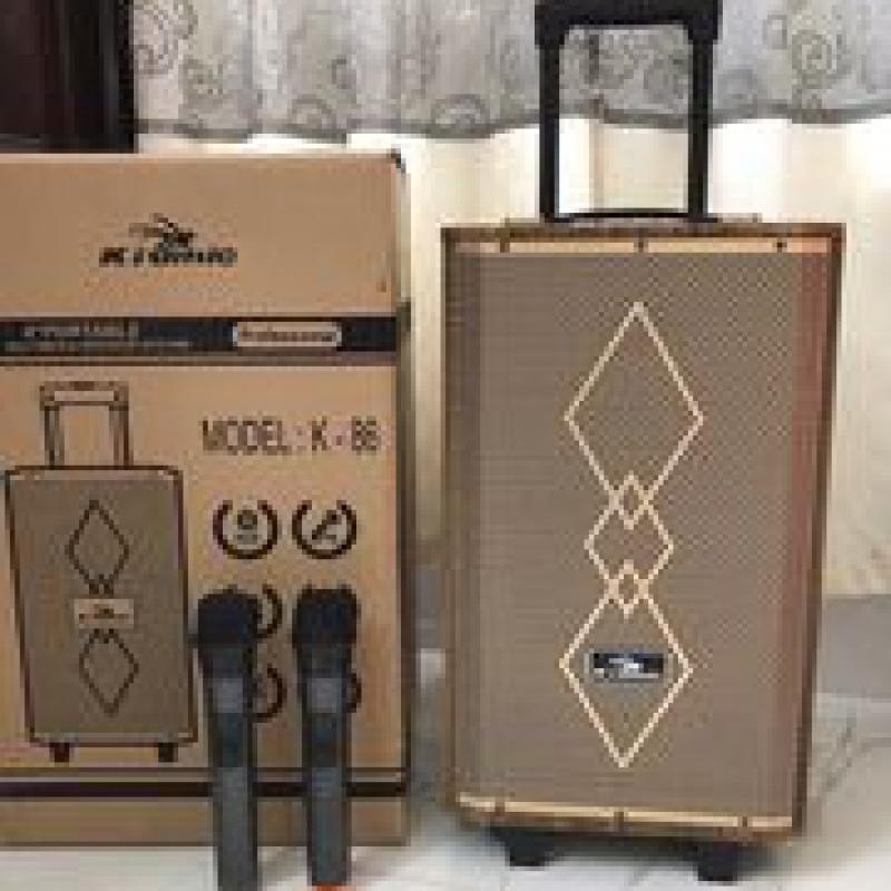 Loa karaoke Kiomic K86 chính hãng kèm 2 micro không dây